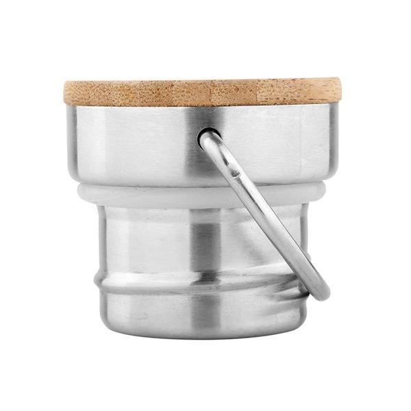 Stainless Steel Bamboo Lid 2